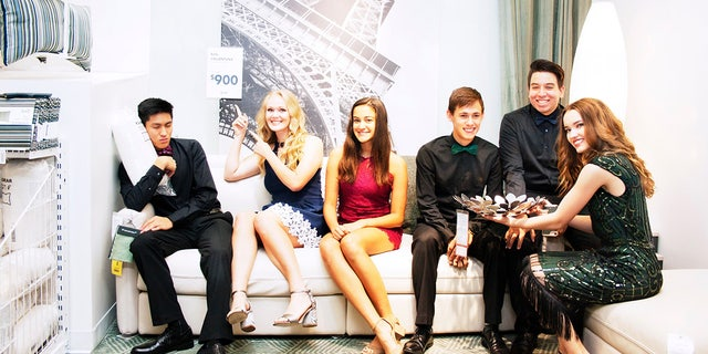 These Texas teens used IKEA as the backdrop for their homecoming photos.