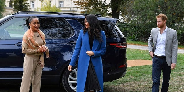 Meghan Markle closed the door last week at an event to launch a cookbook aimed at raising money for the victims of London's Grenfell Tower fire. Her husband, Prince Harry and her mother Doria Ragland were also in attendance.