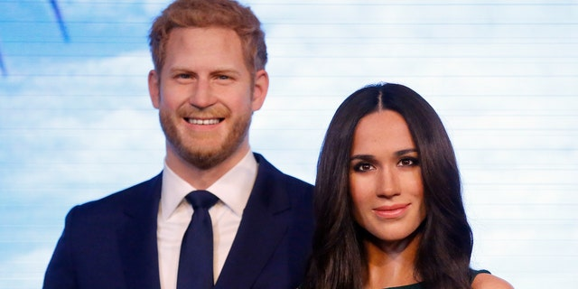 Prince Harry and Markle's royal wax figures were presented on Wednesday, May 9, at Madame Tussaud's in London.