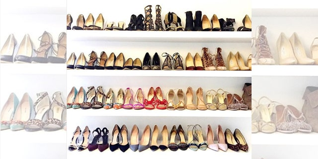 Markle shared a photo of her shoe closet on her old lifestyle website The Tig in 2016.