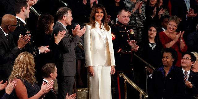Melania Smiles at the State of the Union