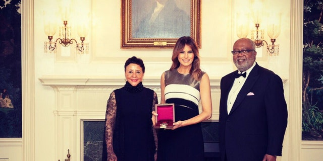 """""""I was honored to be part of such a special evening,"""" said Trump, per a White House press release."""