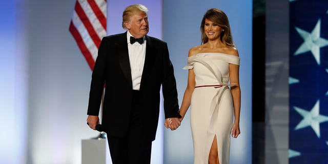 "Trump's gown will be placed in the Smithsonian's ""First Ladies"" exhibit alongside dresses from Jackie Kennedy, Michelle Obama and Martha Washington."