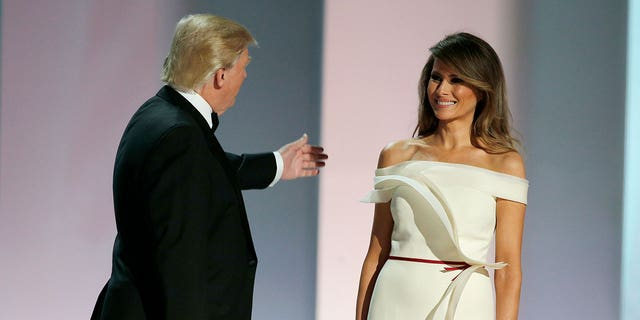 "Designer Hervé Pierre said Melania's gown ""reflects her personality."""