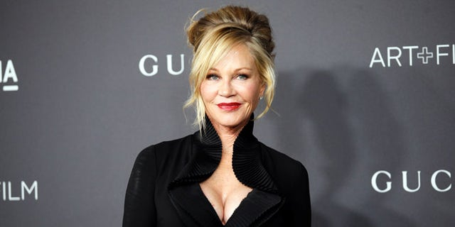 Melanie Griffith showed off her toned abs in an Instagram photo.