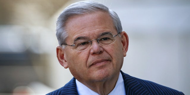 Sen. Bob Menendez, shown arriving to court in Newark in this April 2, 2015 photo, is battling corruption charges.