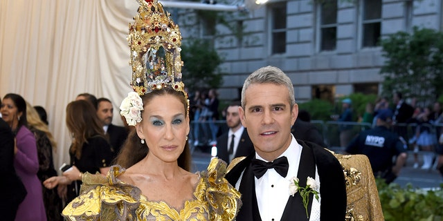 Sarah Jessica Parker and Andy Cohen rock Dolce & Gabbana outfits at the Met Gala.
