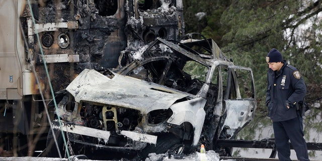 Ellen Brody's SUV was crushed by a Metro-North Railroad train in Valhalla, N.Y.