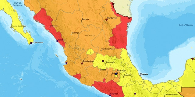 The government categorized Guerrero as Level 4 (red), meaning people are warned to not visit. This is the same level of classification used for Syria, Iraq, Iran and Afghanistan, among others.