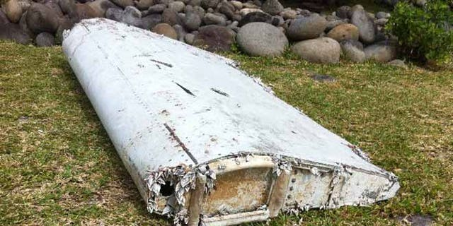 A piece of plane debris washed up on an island in the Indian Ocean.