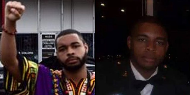 """Johnson's Facebook page showed him giving the """"black power"""" salute."""