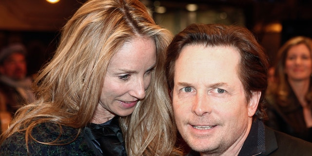 Michael J. Fox and his wife Tracey Pollan.