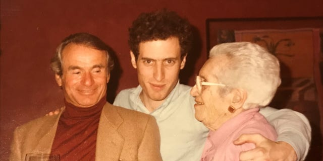 Jacques Graubart, Michael Levin, and Levin's aunt Pearl Green in 1984.