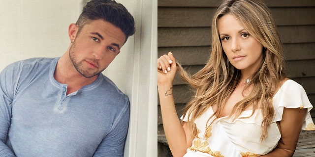 Country signers Michael Ray, left, and Carly Pearce have split after less than a year of marriage.