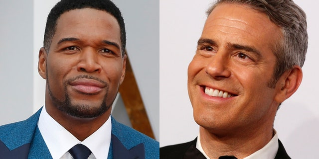 Michael Strahan (left) and Andy Cohen.