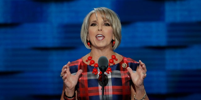 U.S. Rep. Michelle Lujan Grisham, D-N.M., speaks at the Democratic National Convention in Philadelphia in 2016.