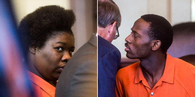 Erika Finley, 29, (left) was sentenced to 15 to 40 years and 27-year-old Khairy Simon (right) was sentenced to 12 to 40 years in the death of Kimora Simon, who police say was beat to death while her parents potty-trained her.