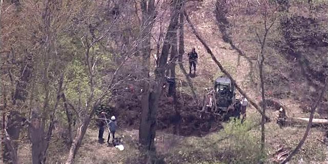 A task force made up of several law enforcement agencies is searching a wooded property where it's believed multiple girls could be buried.