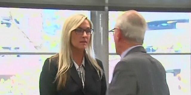 Brooke Lajiness appears in court in May.