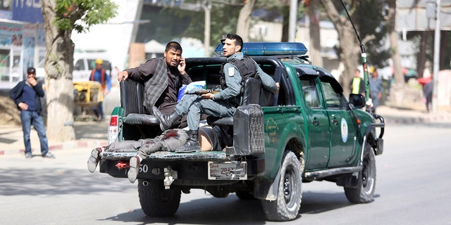 The double bombing occurred in the Shash Darak area, home to NATO headquarters and a number of embassies and foreign offices – as well as the Afghan intelligence service.