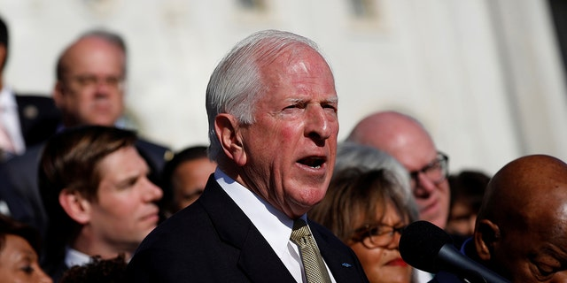 Rep. Mike Thompson (D-CA) speaks at a news conference about the recent shooting in Las Vegas outside the Capitol Building in Washington, U.S., October 4, 2017.