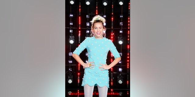 "THE VOICE -- ""Season 11 Press Junket"" -- Pictured: Miley Cyrus  -- (Photo by: Trae Patton/NBC)"