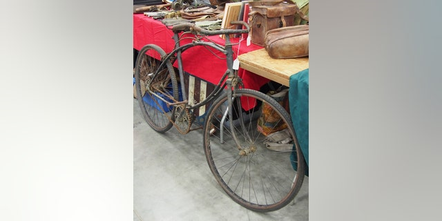 A World War II British-made BSA folding bicycle. This was designed to be folded and could be carried across rivers on the rider's back. Very few of these have survived over the years and most were sold off as scrap or offered to civilians after World War II. (Photo: Peter Suciu, Private Collection)