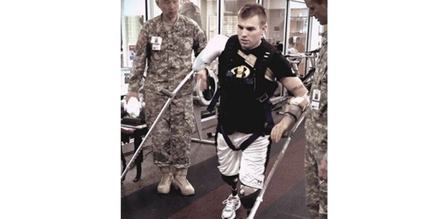Travis Mills after a bomb left him with no limbs.