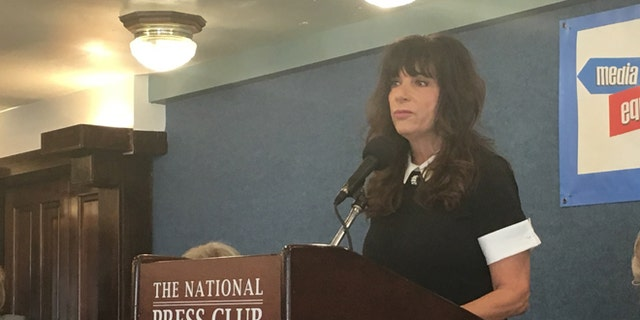 Former television reporter Leslie Millwee details her allegations against former President Bill Clinton during a Nov. 29 appearance at the National Press Club.