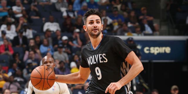 MEMPHIS, TN - OCTOBER 26: Ricky Rubio #9 of the Minnesota Timberwolves handles the ball during a game against the Memphis Grizzlies on October 26, 2016 at FedExForum in Memphis, Tennessee. NOTE TO USER: User expressly acknowledges and agrees that, by downloading and or using this photograph, user is consenting to the terms and conditions of the Getty Images License Agreement. Mandatory Copyright Notice: Copyright 2016 NBAE (Photo by Joe Murphy/NBAE via Getty Images)