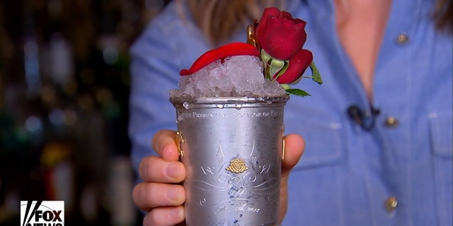 This is what a $1,000 mint julep looks like.