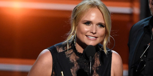 """Miranda Lambert accepts the award for song of the year for """"Tin Man"""" at the 53rd annual Academy of Country Music Awards at the MGM Grand Garden Arena on Sunday, April 15, 2018, in Las Vegas."""