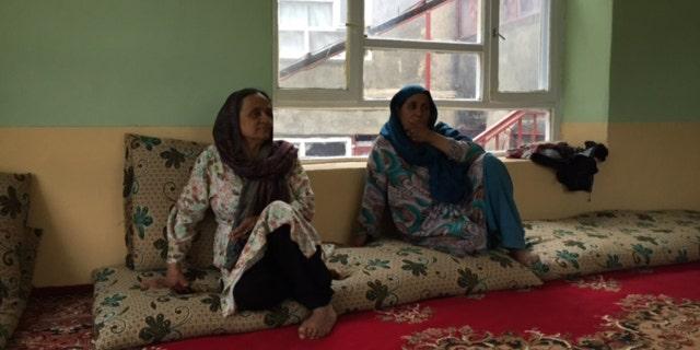 Fawzia Arifi, left, and Miriam Panjshiri