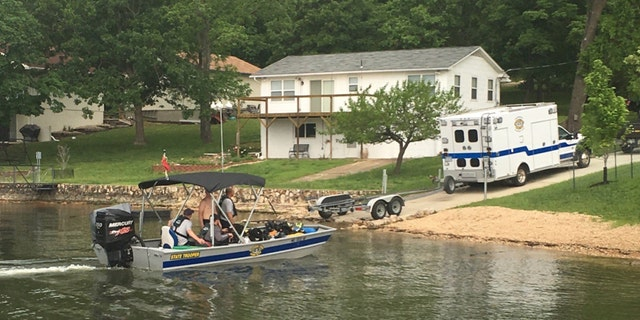 The Missouri State Highway Patrol released a photo of the patrol units at the Lake of the Ozarks.