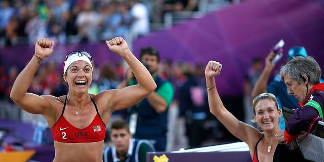 Olympic gold-medal winning volleyball star Misty May-Treanor, left, was also reportedly appointed to President Trumps' sports council.
