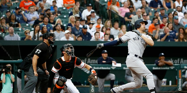 Greg Bird hit a grand slam against the Orioles.
