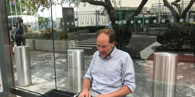 Matthew Lee has been filing stories from a bus stop outside the U.N.