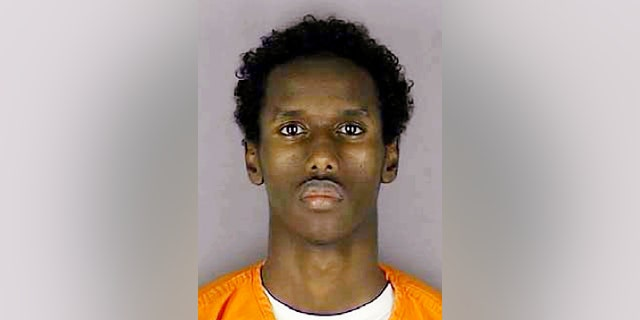 This undated file photo provided by the Hennepin County Sheriff's Office shows Guled Omar, of Minnesota. Omar described as a leader of a group of nine who plotted to travel to Syria to fight for the Islamic State group was sentenced to 35 years in prison Wednesday.