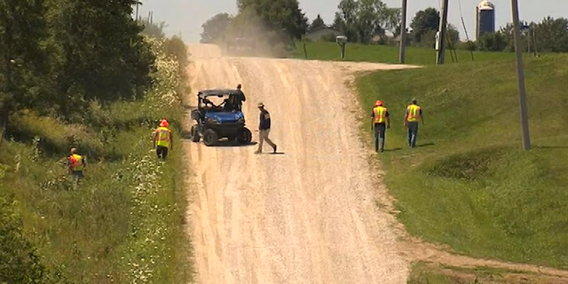 Search crews have scoured several areas including a pig farm about 10 miles from Brooklyn, Iowa where Tibbetts lived.