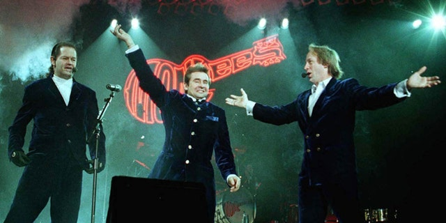 Mickey Dolenz, Davy Jones and Peter Tork, from the Monkees during at 1997 tour.