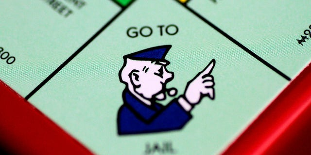 """The """"Go to Jail"""" space on the Monopoly board."""