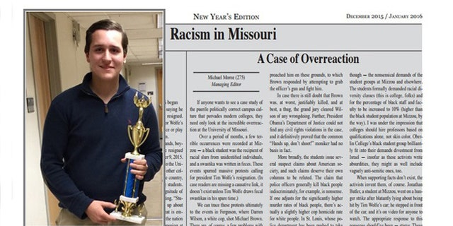 Central High School student Michael Moroz was forced into home school after he received threats for a column he wrote for the school newspaper.