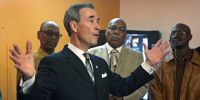 Dec. 14, 2014: Delegate Joseph Morrissey speaks to reporters in Henrico County.