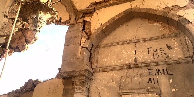 Graffiti in Mosul's Old City