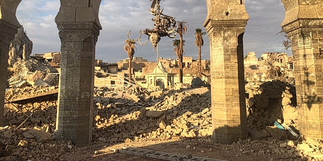 Wrecked buildings in Mosul's Old City