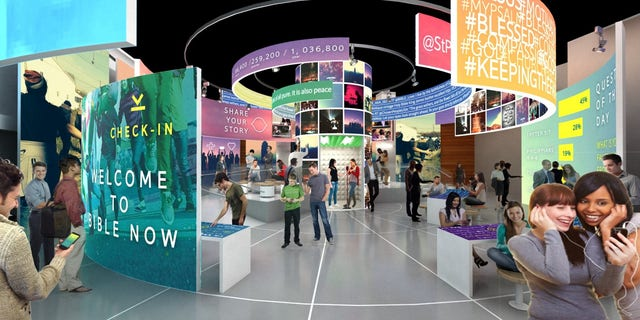 The Bible Museum (a rendering of interior above) focuses on three things: The stories of the Bible, the history of the Bible and, more importantly, the impact of the Bible.