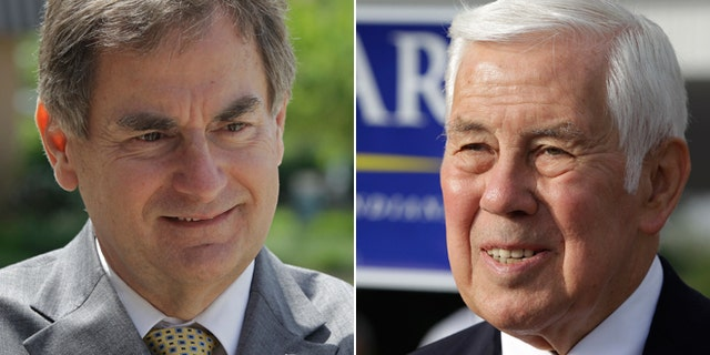 May 8, 2012: Indiana State Treasurer Richard Mourdock, left, defeated longtime Sen. Richard Lugar, right, in the primary.