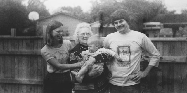 The family image found on the undeveloped film