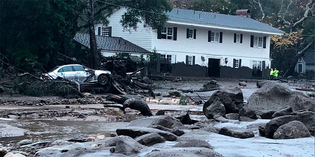 Damage in Montecito after heavy rains caused several flooding and mudslides in the area.