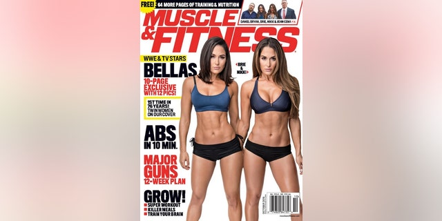 Nikki and Brie Bella graced the cover of the October 2016 issue of Muscle & Fitness magazine. The wrestlers showed off their toned bodies in sexy fitness gear.